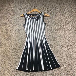 Bebe sleeveless stripe sweater dress